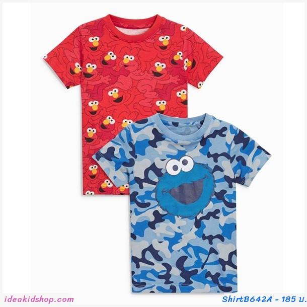 เสื้อยืดเด็ก ลาย Elmo สีแดง