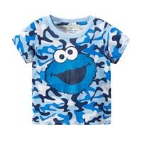 เสื้อยืดเด็ก-ลาย-Elmo-สีฟ้า