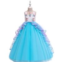 เดรสออกงานสุดหรู-Unicorn-Princess-สีฟ้า