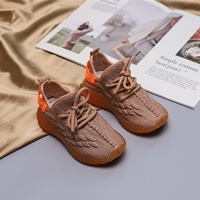 รองเท้าผ้าใบแฟชั่น-Extreme-Yeezy-สีส้ม