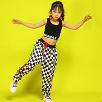 ชุดเต้น-Jazz/HipHop-dance-ลายหมากรุก-สีขาวดำ