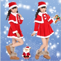 ชุดเดรส-Xmas-_-หมวก-_-เสื้อคลุมไหล่-ซานตี้-สีแดง
