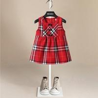 เดรส--Xmas-ลาย-Burberry-สีแดง