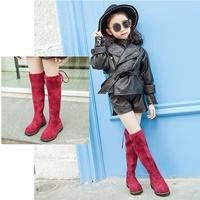 รองเท้าบูท-แบบสูง-Korean-Girl-สีแดง