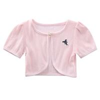 เสื้อคลุมครึ่งตัวปักลายผีเสื้อ-สีชมพูโอรส