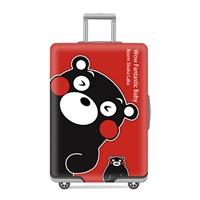 ผ้าคลุมกระเป๋าเดินทางลาย-คุมะมงสีแดง-Q