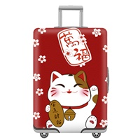 ผ้าคลุมกระเป๋าเดินทางลาย-ลายแมวกวัก-มาเนกิเนโกะ