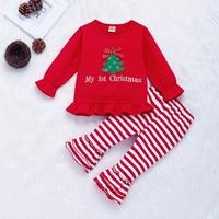 ชุดนอน-Xmas-ปักลายต้นคริสมาสต์-สีแดง