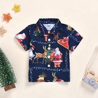 เสื้อเชิ้ตแขนสั้น-xmas-ลายวันคริสมาสต์-สีกรม