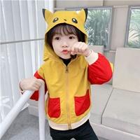 เสื้อแจ็คเก็ตมีฮู้ด-Pokemon-Pikachu-สีเหลือง