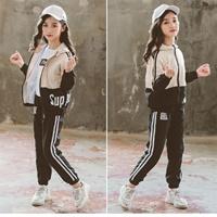 ชุดเสื้อ-Jacket-_-กางเกง-สไตล์-Sport-โทนสีครีม-ดำ