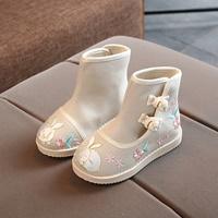 รองเท้าบูท-จีน-Style-Hanfu-สีครีมอมเทา