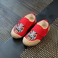 รองเท้าผ้าใบจีน-หน้ากากจีน-สีแดง