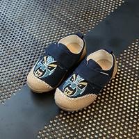 รองเท้าผ้าใบ-หน้ากากจีน-สีกรม