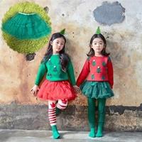 กระโปรงเด็ก-Tutu-แซนตี้-Xmas-สีเขียว