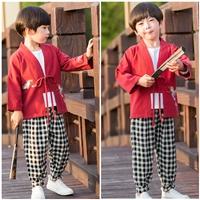 ชุดเสื้อกางเกงจีน-ปักลายนก(ได้-3-ชิ้น)-สีแดง