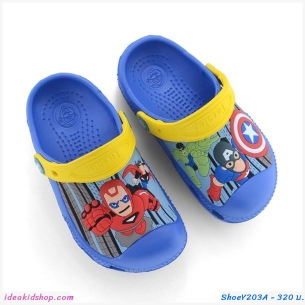 รองเท้าเด็กสไตล์ Crocs CaptainและIron Man