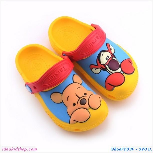 รองเท้าเด็กสไตล์ Pooh & Tiger