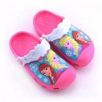 รองเท้าเด็กสไตล์-Frozen-ชมพูเข้ม