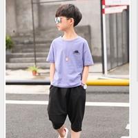 ชุดเสื้อกางเกง-Hiphop-CATTEE-สีม่วง
