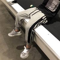 กางเกงวอร์มหนุ่ม-Hip-hop-สีเทา
