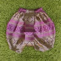 ชุดไทยเด็ก-โจงกระเบนผ้าทอ-สีชมพูม่วง