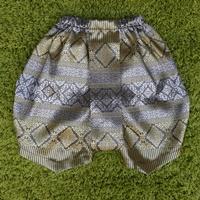 ชุดไทยเด็ก-โจงกระเบนผ้าทอ-สีเทาเงิน