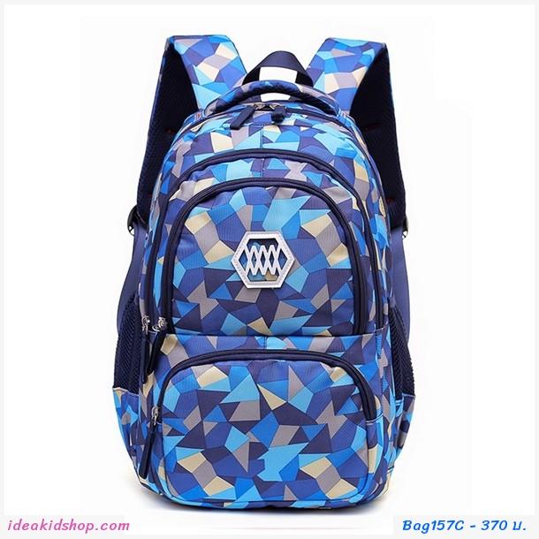 กระเป๋าสะพาย ลายโมเสก Mosaic สีน้ำเงิน