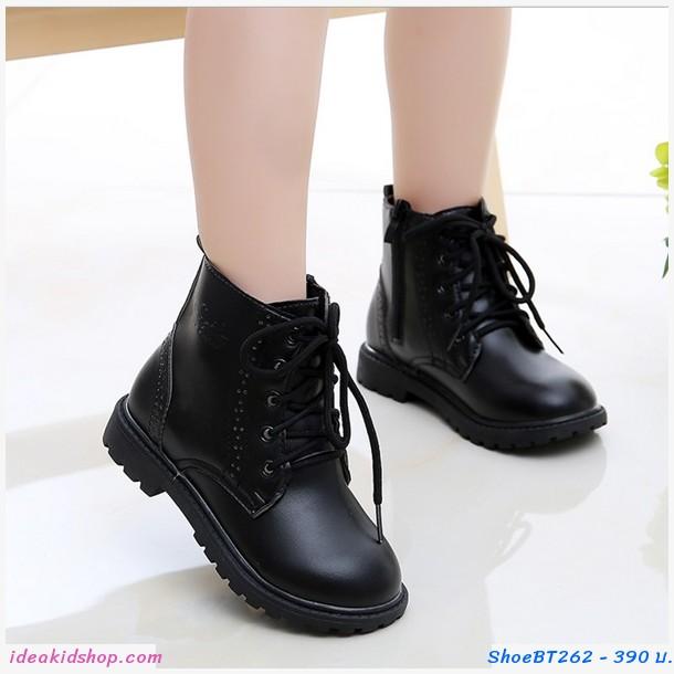รองเท้าฮาฟหนัง รองเท้าบูท สีดำ