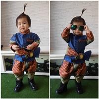 ชุดไทยเด็กชาย-ราชปะแตนหรูหรา-สีกรม
