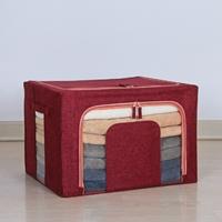 กล่องผ้าโครงเหล็กรูปตัวยู-ขนาด-66-ลิตร-สีแดงสด