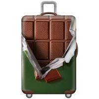 ผ้าคลุมกระเป๋าเดินทางลาย-ช็อคโกแลต