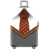 ผ้าคลุมกระเป๋าเดินทางลาย-สุภาพบุรุษผูกไทด์