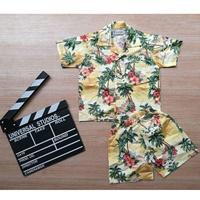 ชุดเสื้อกางเกงฮาวาย-ลายทะเล-สีเหลือง