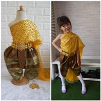 ชุดไทยนางนพมาศ-สไบมุก-โทนสีทอง
