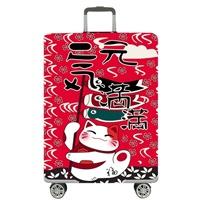 ผ้าคลุมกระเป๋าเดินทาง-ลายแมวกวัก-Maneki-Neko