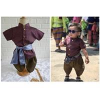 ชุดไทยเด็กชาย-พี่หมื่น-สีเปลือกมังคุด