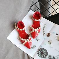 รองเท้ารัดส้นหนังแก้ว-Valentino-สีแดง