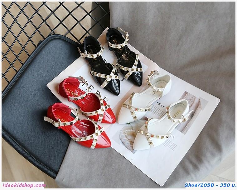 รองเท้ารัดส้นหนังแก้ว Valentino สีขาว
