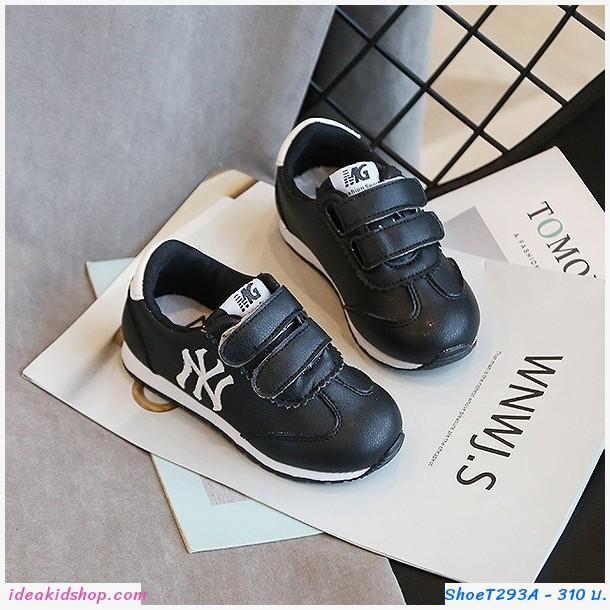 รองเท้าผ้าใบสไตล์ NY สีดำ