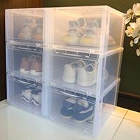 กล่องใส่รองเท้าและของใช้-SHOE-BOX-สีขาว(6-ชิ้น)