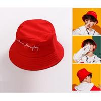 หมวกเด็กปีกรอบแฟชั่น-สไตล์-Hip-hop-สีแดง