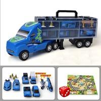 รถบรรทุกรถตำรวจ(Storage-box-_โมเดล--8-ชิ้น)
