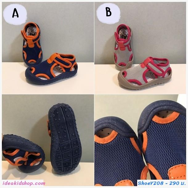 รองเท้าลำลอง waterproof beach shoes สีน้ำเงินส้ม