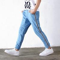 กางเกงวอร์มแฟชั่น-AOWKULAE-สีฟ้า