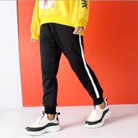กางเกงวอร์มแฟชั่น-Sport-แต่งแถบ-สีดำ
