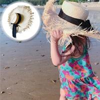 หมวกสานเที่ยวชายหาด-ปีกกว้าง