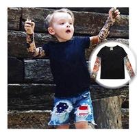 เสื้อยืดแขนยาว-Tattoo-T-Shirt-สีพื้น-สีดำ