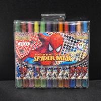 สีเทียนหมุนได้-12-สี-Spiderman