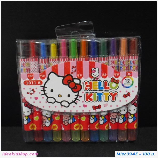 สีเทียนหมุนได้ 12 สี Kitty